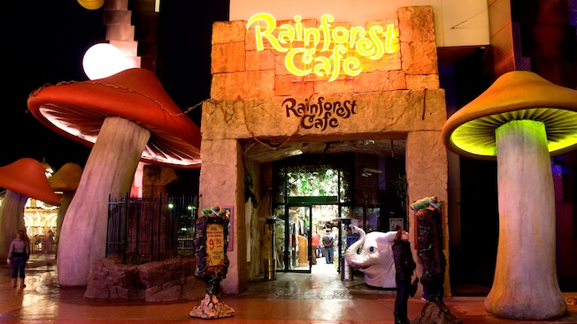 Restaurant Rainforest Cafe Disneyland Paris Menu